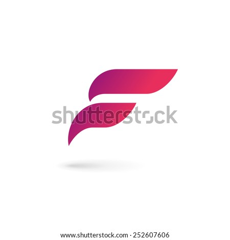 Letter F wing flag logo icon design template elements  - stock vector