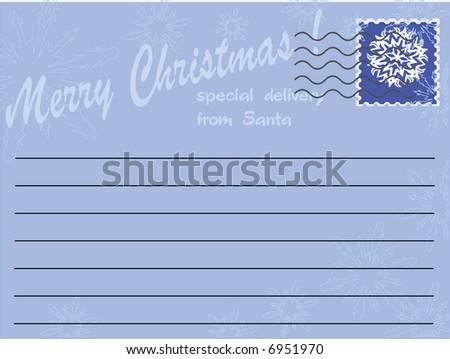 letter from Santa,vector - stock vector