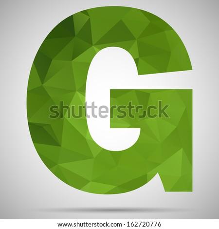Letter G - stock vector