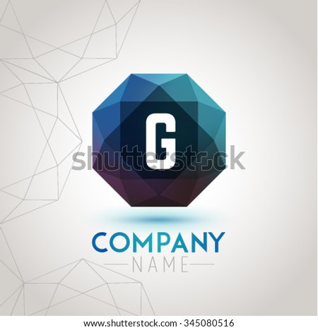 Letter G Alphabet Logo Icon Design Template Element. Vector Color Sign Easy Editable for Your Design. - stock vector