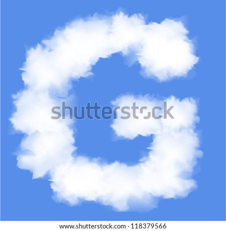 Letter G cloud shape - stock vector