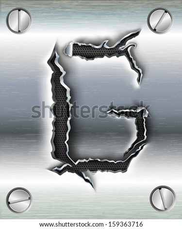 letter G cut out in metal