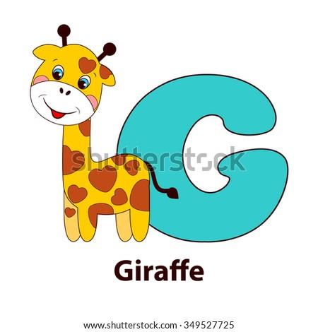 Letter g giraffe alphabet cute animals stock vector 2018 349527725 letter g giraffe alphabet with cute animals vector illustration spiritdancerdesigns Gallery