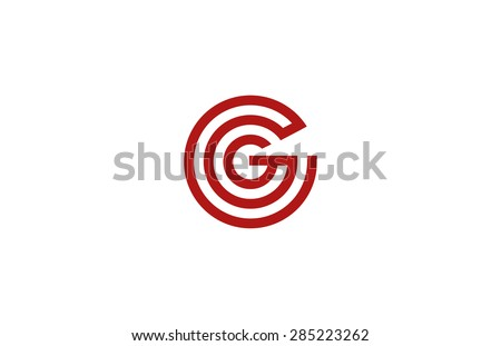 Letter G Logo vector alphabet design element template. ABC concept type as logotype. Typography icon line art - stock vector