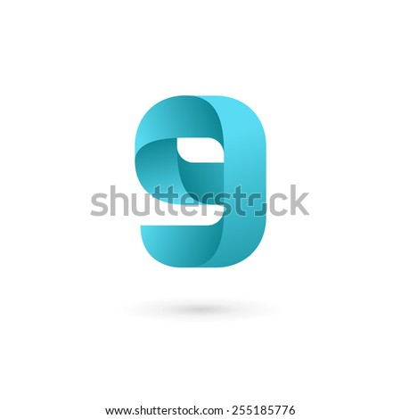 Letter G number 9 logo icon design template elements  - stock vector