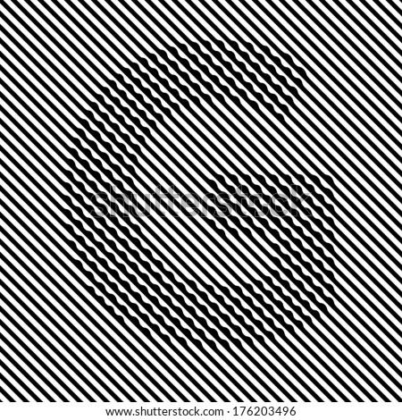 Letter G - Optical  illusion font set - stock vector