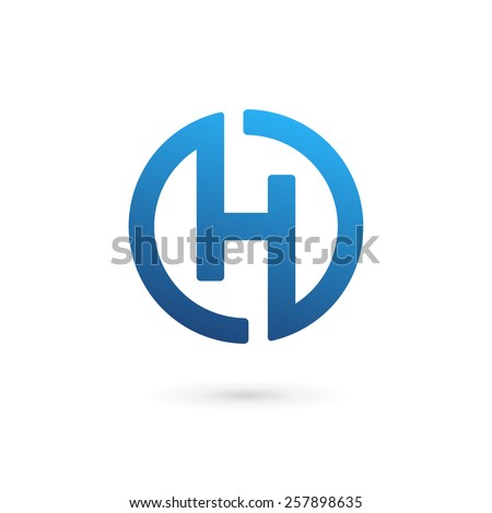 letter h logo icon design template stock vector royalty free