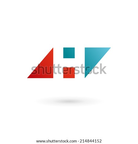 Letter H logo icon design template elements. Vector color sign. - stock vector