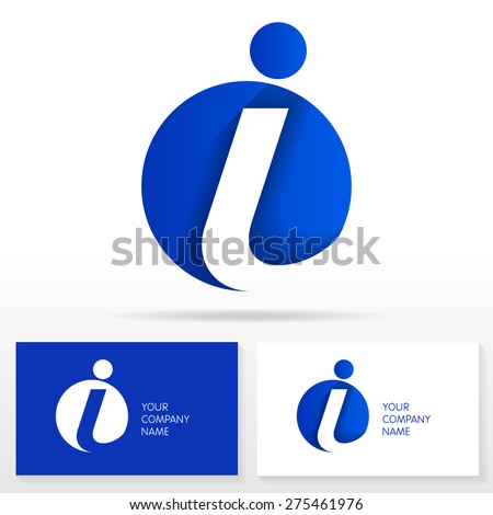 Letter I logo icon design template elements .Vector sign. Business card templates. - stock vector