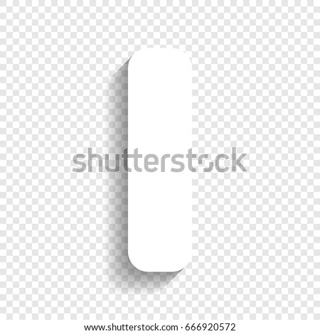 Letter I Sign Design Template Element. Vector. White Icon With Soft Shadow  On Transparent  Letter I Template