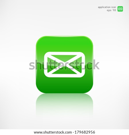 Letter icon. Email message. Sms. - stock vector