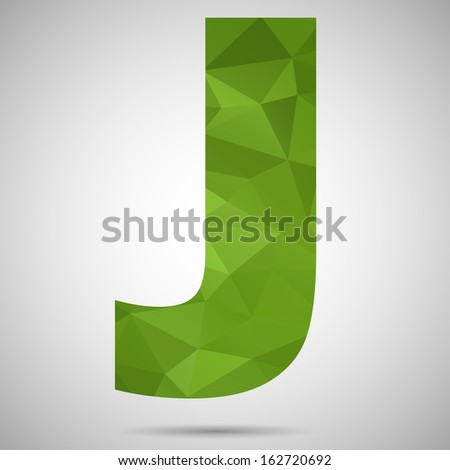 Letter J - stock vector