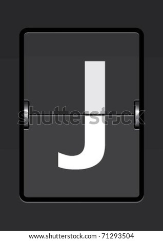 letter  j on a mechanical timetable