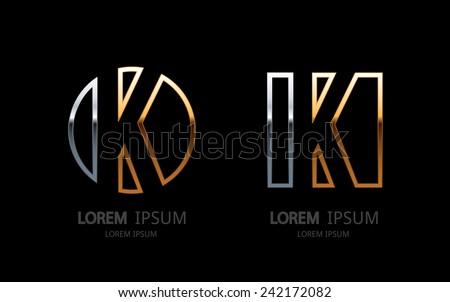 Letter K logo. Alphabet logotype vector design. - stock vector