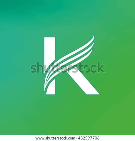 Letter K logo design template. - stock vector