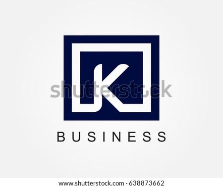 Letter k logo design template box stock vector 638873662 letter k logo design template with box spiritdancerdesigns Images