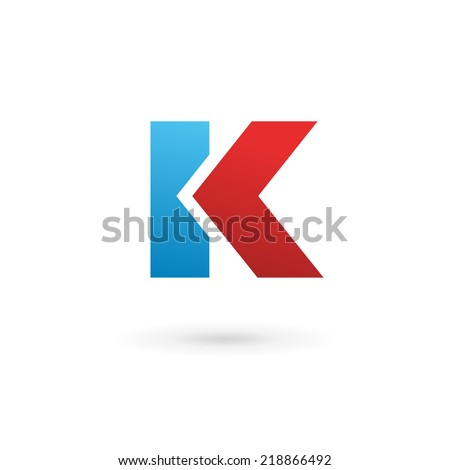 K Logo Images ... circle k brand k letter logo icon with business card template vector