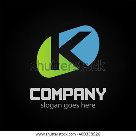 letter K logo icons design template elements  - stock vector