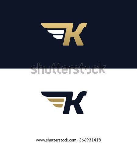 Letter K Logo Template Wings Design Stock Vector 366931418 ...