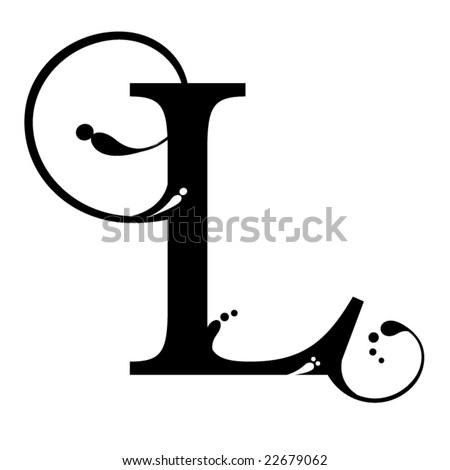 Letter L Stock Vector 22679062