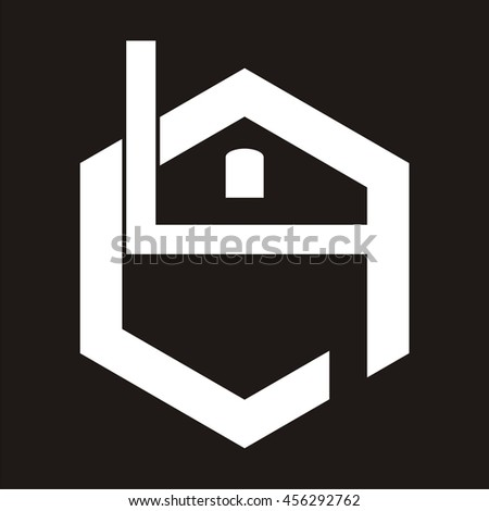 letter l and j and g and h with build logo design, - stock vector