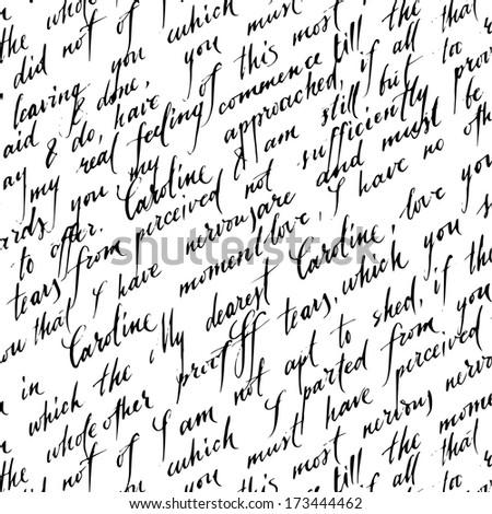 Letter lover. Vector pattern - stock vector