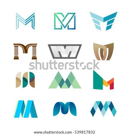 M Logo Design M Stock Images,...