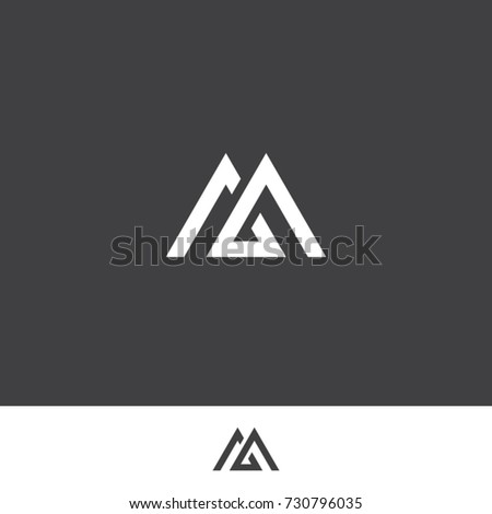 Letter M Logo Two Triangle Icon Stock Vector 730796035 Shutterstock