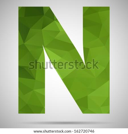 Letter N - stock vector