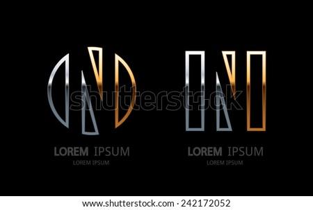 Letter N logo. Alphabet logotype vector design. - stock vector