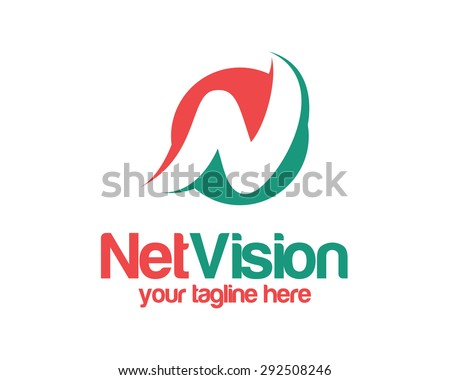Letter N logo template . Simple and clean Letter N logo vector. Circle letter N logo design template. - stock vector
