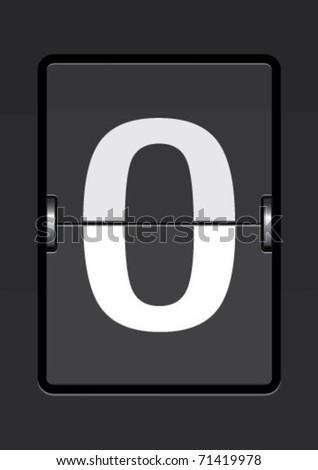 letter  o on a mechanical timetable - stock vector