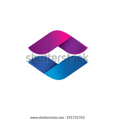 Letter O Symbol Abstract Sphere Leaf Stock Vector 2018 335735762
