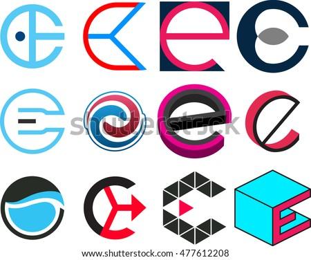 Letter e design logo template stock vector 477612208 shutterstock letter of e design logo template spiritdancerdesigns Images