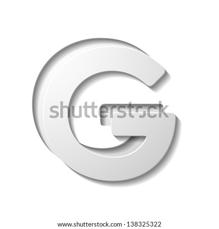 letter of the alphabet - stock vector