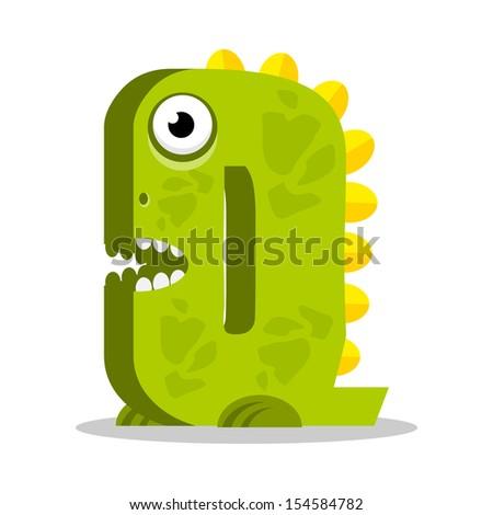 Letter Q monster. Vectorial illustration - stock vector