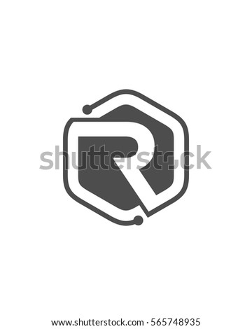 Letter r logo black stock vector 2018 565748935 shutterstock thecheapjerseys Image collections