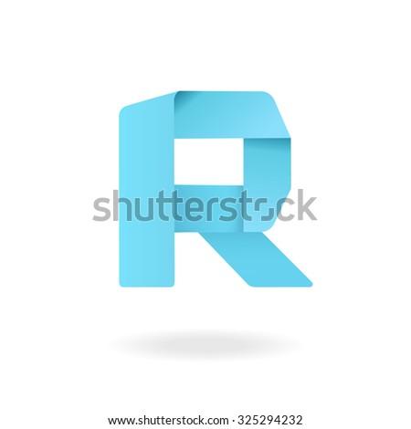 Letter R logo design template  Stylish vector icon. R Letter Logo Watercolor Splashes Color Stock Vector 527805634