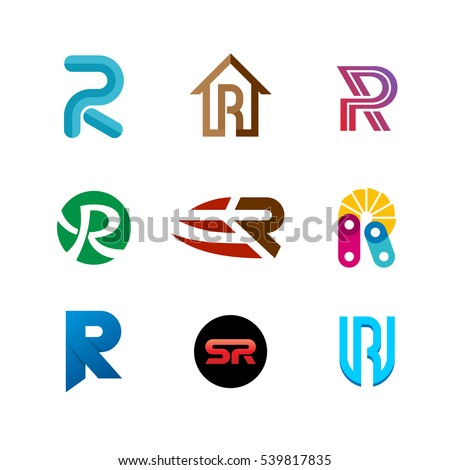 Letter r logo set color icon stock vector 539817835 shutterstock letter r logo set color icon templates design set of colorful r letter symbols altavistaventures Image collections