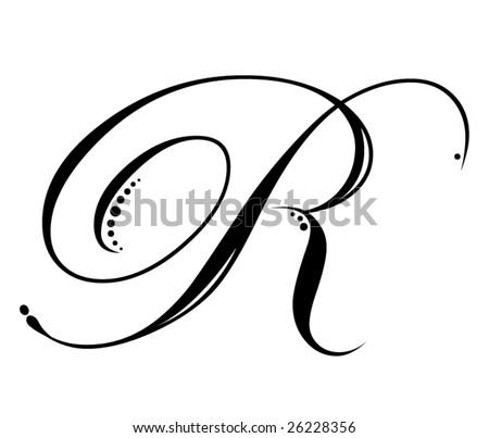 Letter R Script Stock Vector 26228356