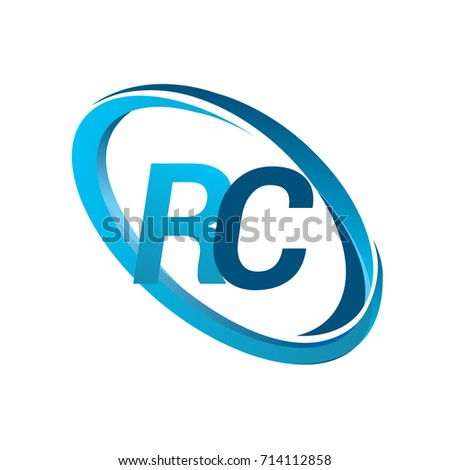 Letter Rc Logotype Design Company Name Stock Vector 714112858