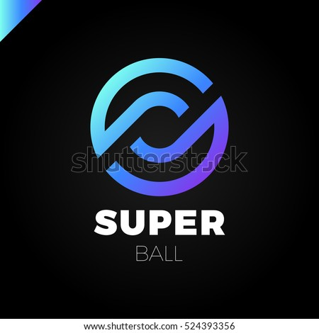 Letter S Or O Logo Super Dynamic Initial Overlapping In Square Logotype Blue