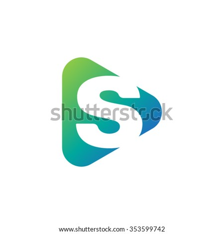 sm initial logo ampersand monogram logo stock vector
