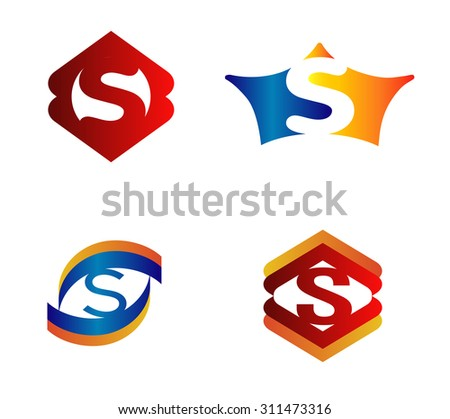 Letter S set Alphabetical Logo Design Concepts  - stock vector