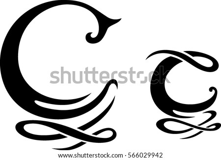 Letter Stylized C Monogram Design