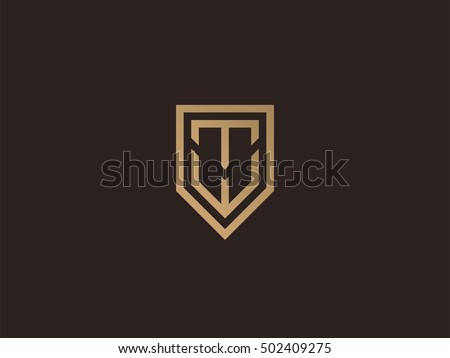 Letter T W Shield Logo Design 스톡 벡터 502409275 Shutterstock