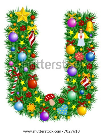 Letter S Christmas Decoration Alphabet Stock Vector 7027612 ...