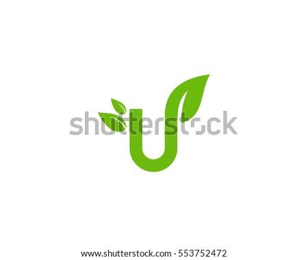 stock-vector-letter-u-leaf-nature-logo-design-element-553752472 Letter R Road Template For T Shirts on