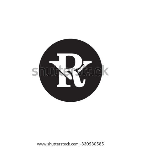 Letter V R Monogram Circle Logo Stock Vector Hd Royalty Free