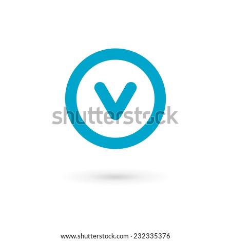 v and s logo design  Letter V logo icon